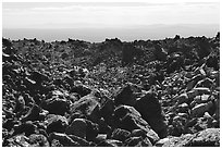 Lava fields, Glass Mountain. California, USA (black and white)