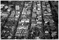 Aerial view of downtown. Palo Alto,  California, USA (black and white)