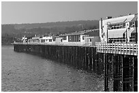 Santa Cruz Wharf. Santa Cruz, California, USA ( black and white)