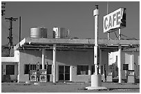 Roys Cafe and gas station, Amboy. California, USA ( black and white)