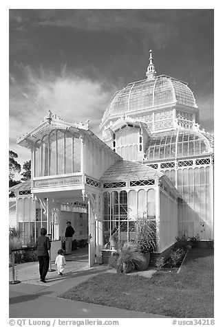 Entrance of the Conservatory of Flowers. San Francisco, California, USA