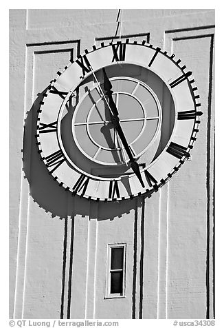 Big clock on the Ferry building. San Francisco, California, USA