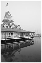 Historic Coronado Boathouse. San Diego, California, USA (black and white)