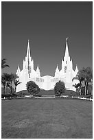 Church of Jesus-Christ of Latter-Day Saints, San Diego California temple. San Diego, California, USA ( black and white)
