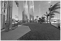 Reflections in  Crystal Cathedral, home of Televangelist Robert Schuller. Garden Grove, Orange County, California, USA ( black and white)