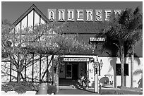 The original Andersen pea soup restaurant. California, USA ( black and white)