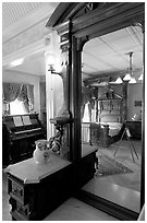 Last room of Sarah Winchester. Winchester Mystery House, San Jose, California, USA (black and white)