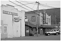 Main street, Pescadero. San Mateo County, California, USA (black and white)