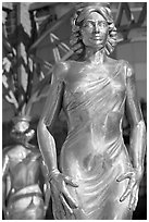 Statue of actress  Dorothy Dandridge. Hollywood, Los Angeles, California, USA ( black and white)
