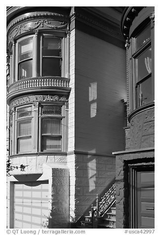 Victorian houses detail, Haight-Ashbury District. San Francisco, California, USA