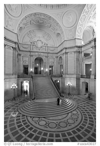 City Hall rotunda interior. San Francisco, California, USA
