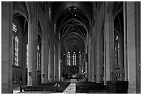 Grace Cathedral interior. San Francisco, California, USA ( black and white)