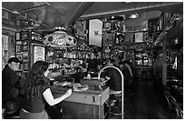 Inside Vesuvio saloon, North Beach. San Francisco, California, USA (black and white)