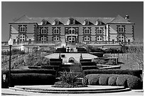 Domain Carneros winery in Louis XV chateau style. Napa Valley, California, USA (black and white)