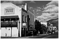 Old Town, Yreka. California, USA (black and white)