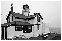 Battery Point Lighthouse, Crescent City. California, USA ( black and white)