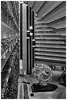Atrium, Hyatt Grand Regency. San Francisco, California, USA (black and white)