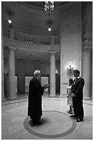 Wedding ceremony, City Hall. San Francisco, California, USA (black and white)
