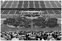 Stanford University commencement. Stanford University, California, USA ( black and white)