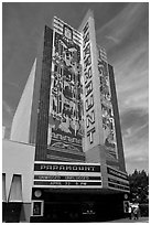 Paramount Theater. Oakland, California, USA (black and white)