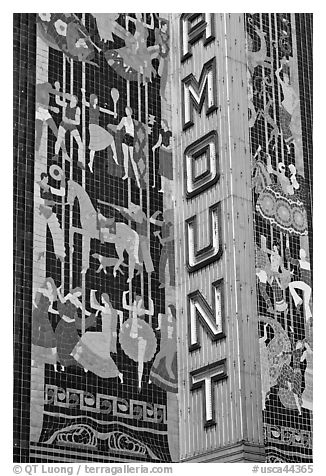 Detail of art deco mosaic, Paramount Theater. Oakland, California, USA
