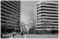 Downtown Oakland. Oakland, California, USA ( black and white)