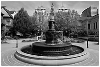 Fountain, Preservation Park. Oakland, California, USA ( black and white)