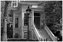 Historic house, Preservation Park. Oakland, California, USA ( black and white)