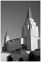 Church of Jesus Christ of Latter-Day Saints. Oakland, California, USA ( black and white)