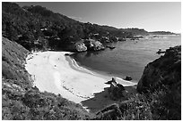 Gibson Beach. Point Lobos State Preserve, California, USA ( black and white)