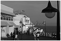 On the pier. Santa Cruz, California, USA ( black and white)