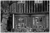 Art gallery housed in old house. Carmel-by-the-Sea, California, USA ( black and white)
