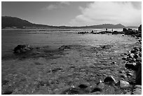 Carmel Bay. Carmel-by-the-Sea, California, USA ( black and white)