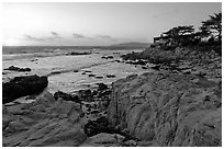 Butterfly house at sunset. Carmel-by-the-Sea, California, USA ( black and white)