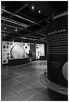 Intel Museum. Santa Clara,  California, USA (black and white)