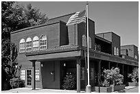 Post Office. Woodside,  California, USA (black and white)