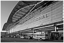 San Francisco International Airport. California, USA ( black and white)