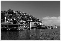 Belvedere Cove, Tiburon. California, USA ( black and white)