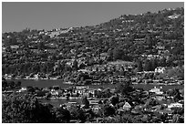 Belvedere Lagoon, Tiburon. California, USA ( black and white)