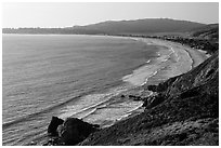 Bolinas Bay, Stinson Beach. California, USA ( black and white)