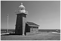 Mark Abbott Memorial Lighthouse. Santa Cruz, California, USA ( black and white)