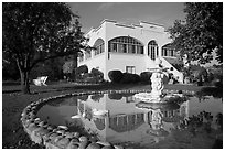 Savannah-Chanelle winery villa, Santa Cruz Mountains. California, USA (black and white)