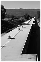 Two-mile long linear accelerator. Stanford University, California, USA ( black and white)