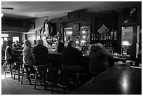 Inside Duarte Tavern, Pescadero. San Mateo County, California, USA (black and white)