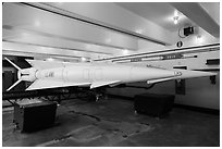 Underground storage area, Nike missile site. California, USA ( black and white)