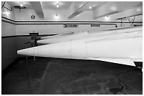 Tips of nuclear-armed Nike missiles. California, USA ( black and white)