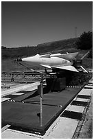 Nike missile firing battery. California, USA ( black and white)