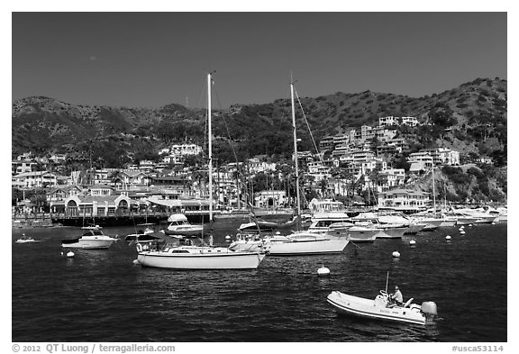 Avalon Bay harbor, Santa Catalina Island. California, USA