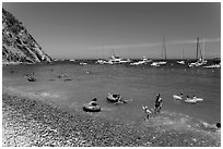 Descanso Beach, Avalon, Santa Catalina Island. California, USA (black and white)
