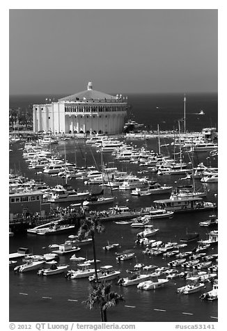 Catalina Casino and harbor, Avalon Bay, Santa Catalina Island. California, USA